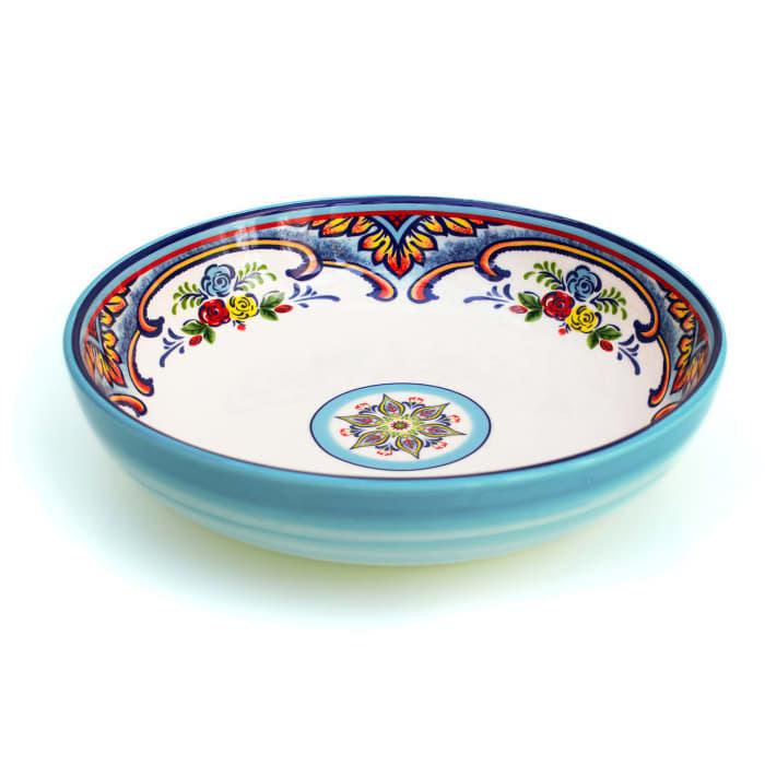 Zanzibar Set of 4 Stoneware Pasta Bowls