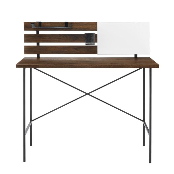 Contemporary Dark Walnut Writing Desk