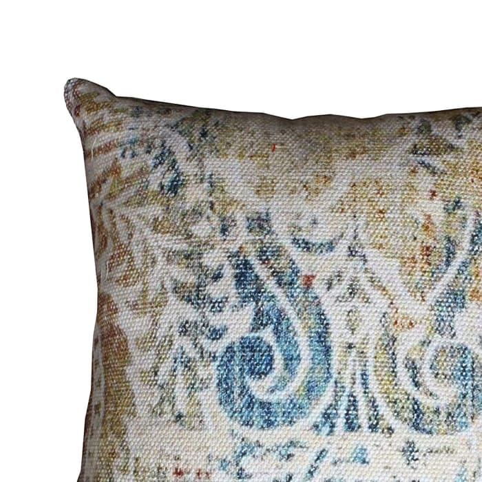 Hand Block Printed Multicolor Accent Pillow Cover