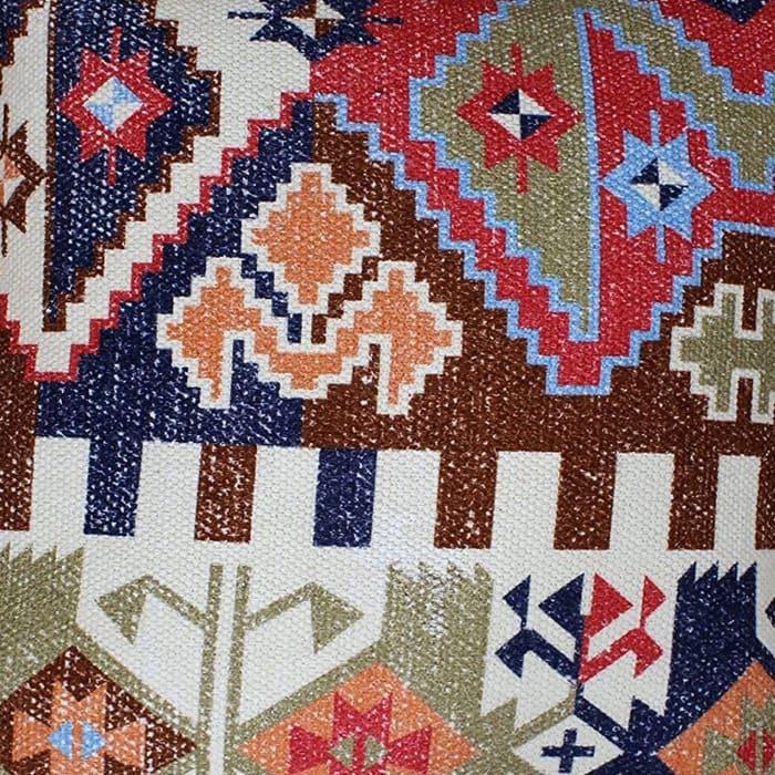 Handwoven Tribal Print Cotton Multicolor Accent Pillow