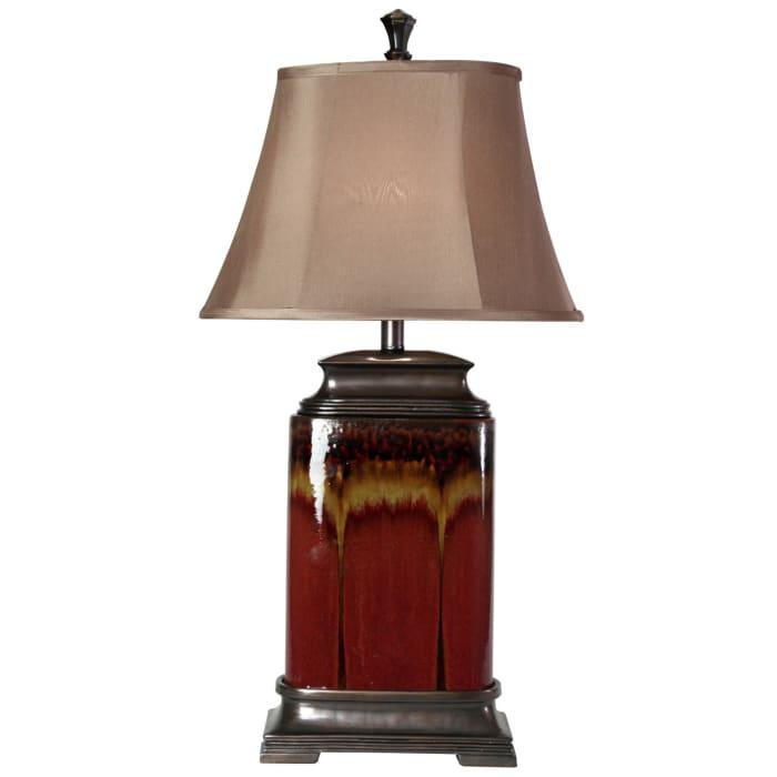 Roman Drip Glazed Ceramic Table Lamp