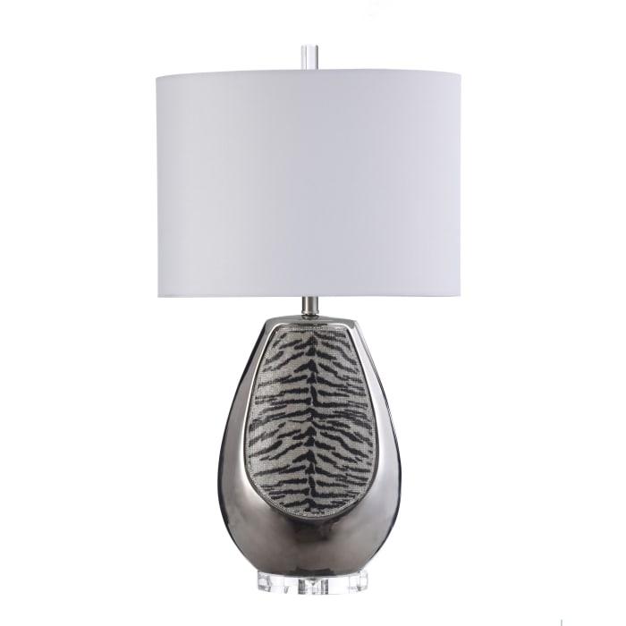 Aasha Silver Tiger Table Lamp