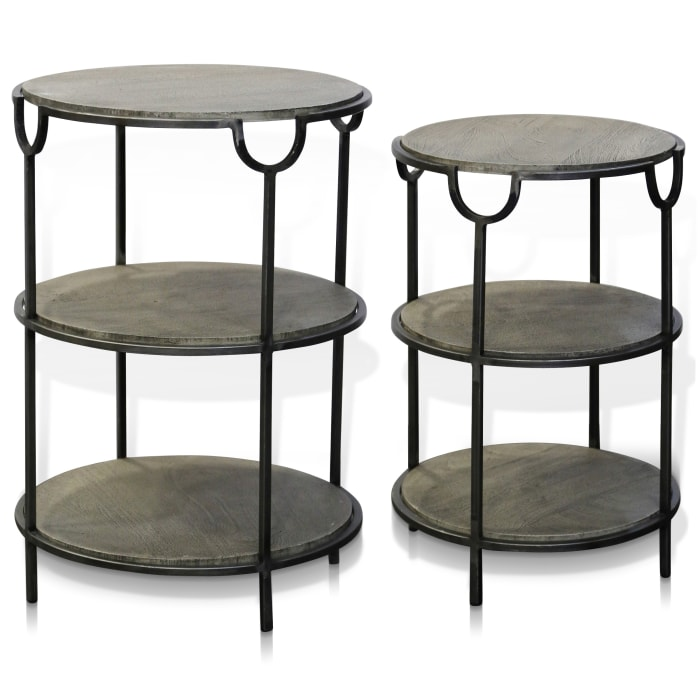 Logan Black and Grey Set of 2 Nested Tables