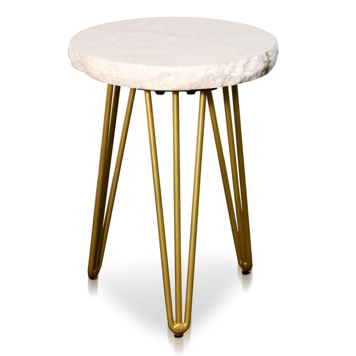 Galaxia Brass Finish Small Round Side Table