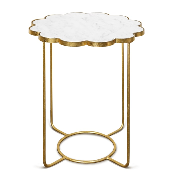 Galaxia Gold Finish Accent Side Table