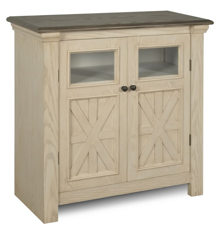 Tipton Wood and Beige Cabinet