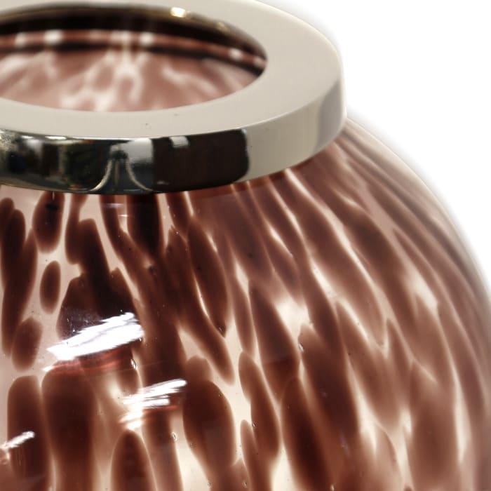 Florintini Cabernet Hand Made Medium Art Glass Vase