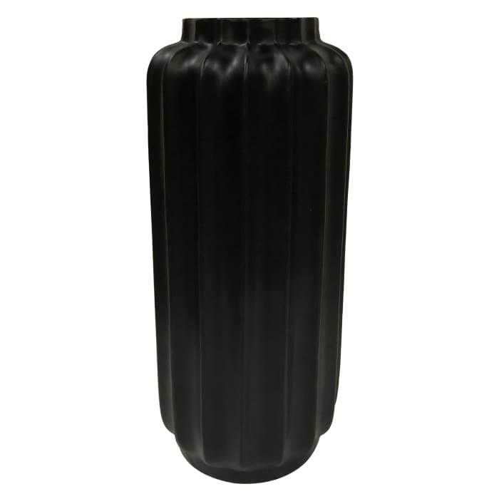 Bari Matte Black Resin Medium Floor Vase