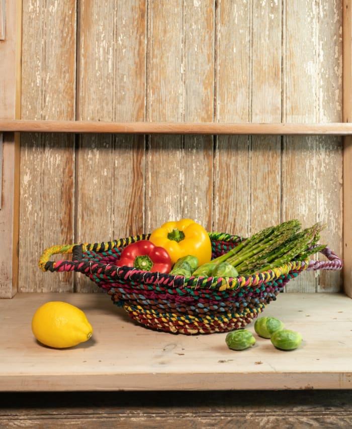 Braided Jute Centerpiece Basket