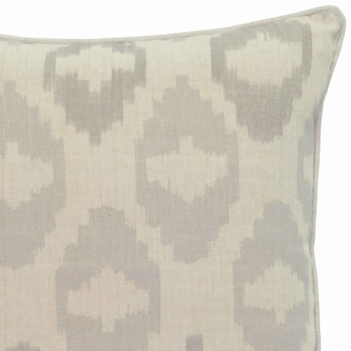 Gray & Beige with Metallic Embroidered Details Throw Pillow