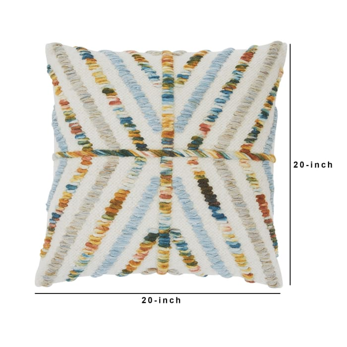 Geometric Multicolor Set of 4 Accent Pillows