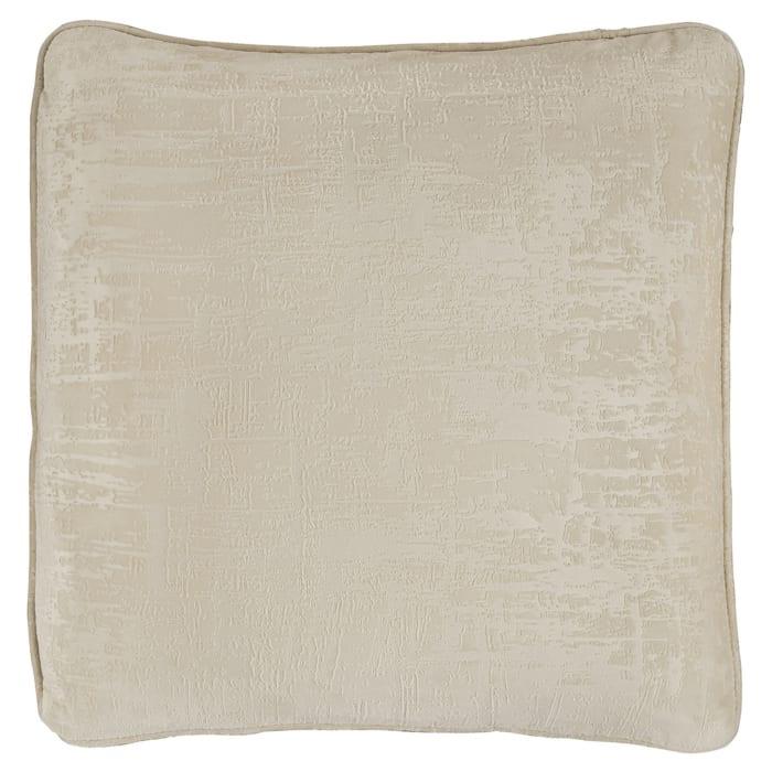 Textured Velvet Beige Set of 4 Accent Pillows