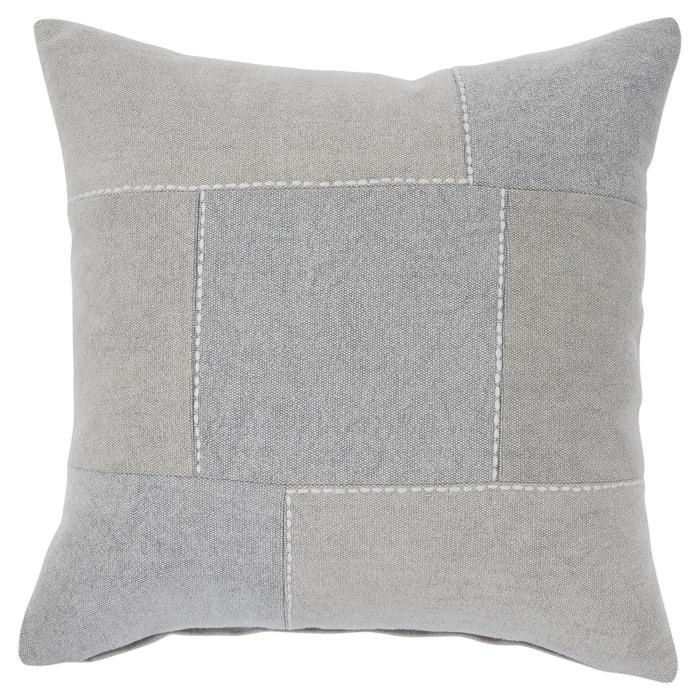 Patchwork Design Gray Set of 4 Accent Pillows