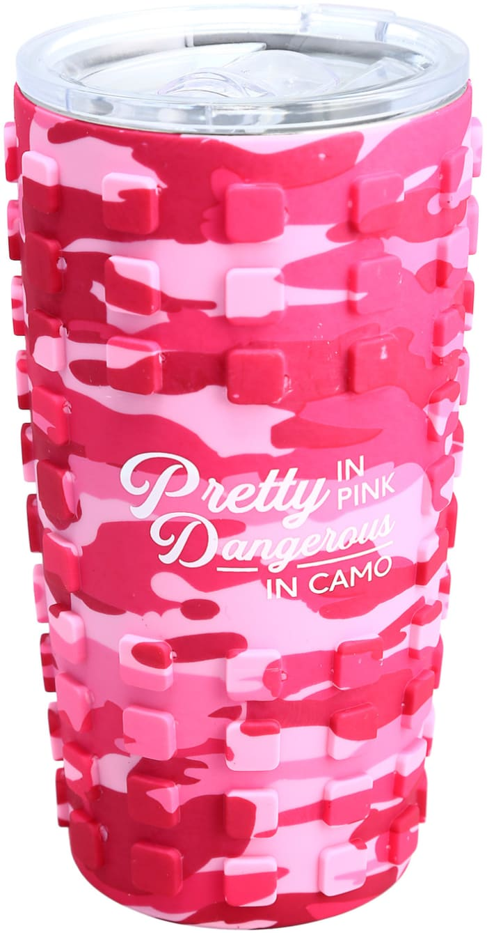 Pretty in Pink - Travel Tumbler with 3D Silicone Wrap