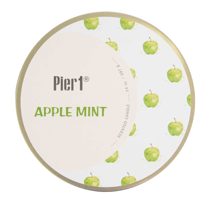 Pier 1 Apple Mint Filled 3-Wick 14oz Candle