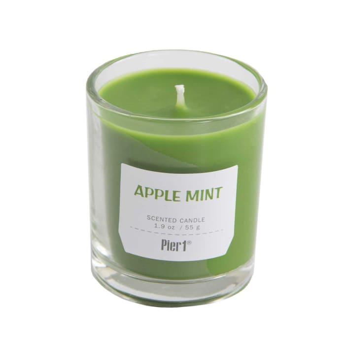 Pier 1 Apple Mint Glass Votives Set of 4