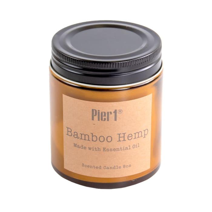 Pier 1 Bamboo Hemp Filled Candle 8oz