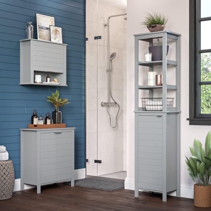 Madison Gray Two Door Floor Cabinet