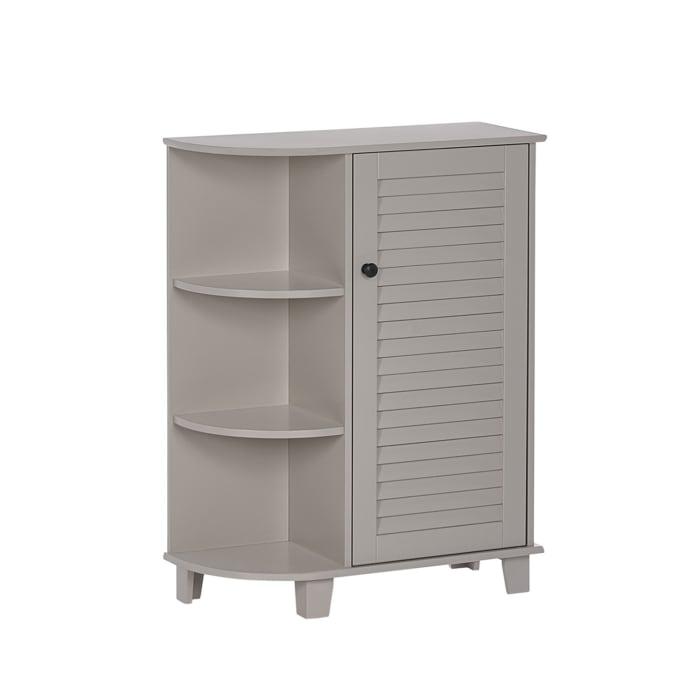 Ellsworth Taupe Floor Cabinet with Side Shelves