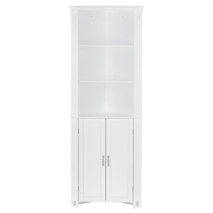 Somerset White Tall Two Door Corner Cabinet