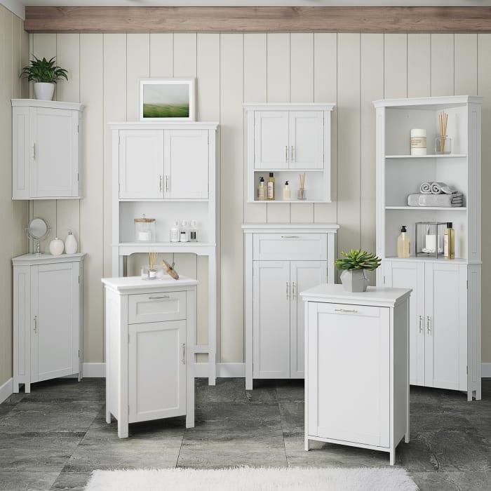 Somerset White Corner Wall Cabinet
