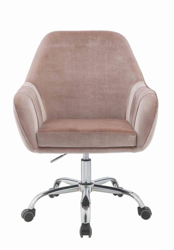 Stylish Mauve Rose Velvet Office Desk Chair