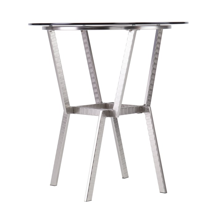 Osian Glass-Top End Table