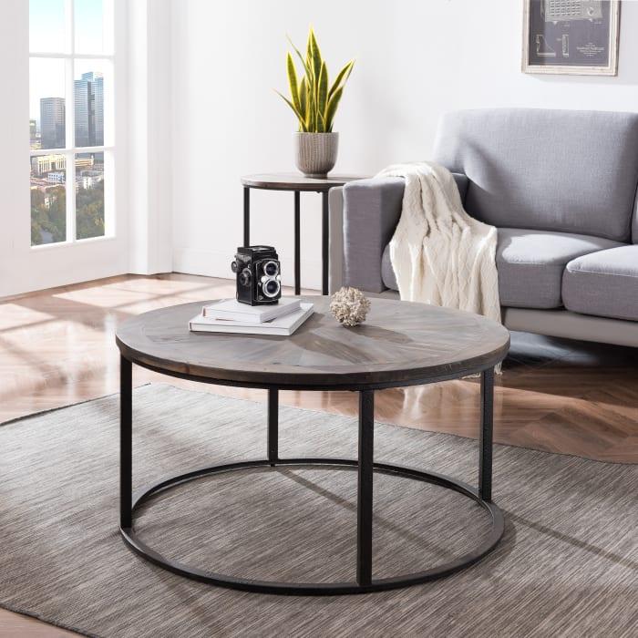 Modern Dark Round Coffee Table