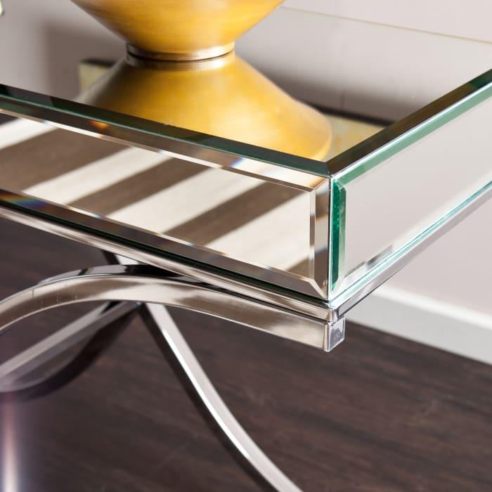 Milton Chrome Mirror Console Table