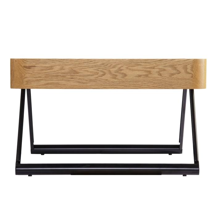 Mod Wood and Black Coffee Table