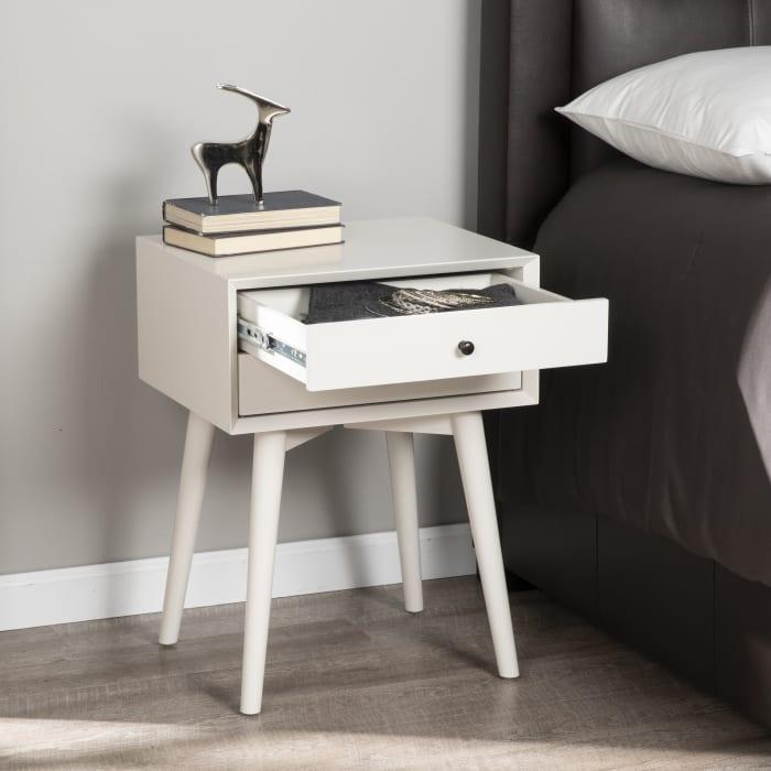 Winnie Two Drawer White Drawer Nightstand