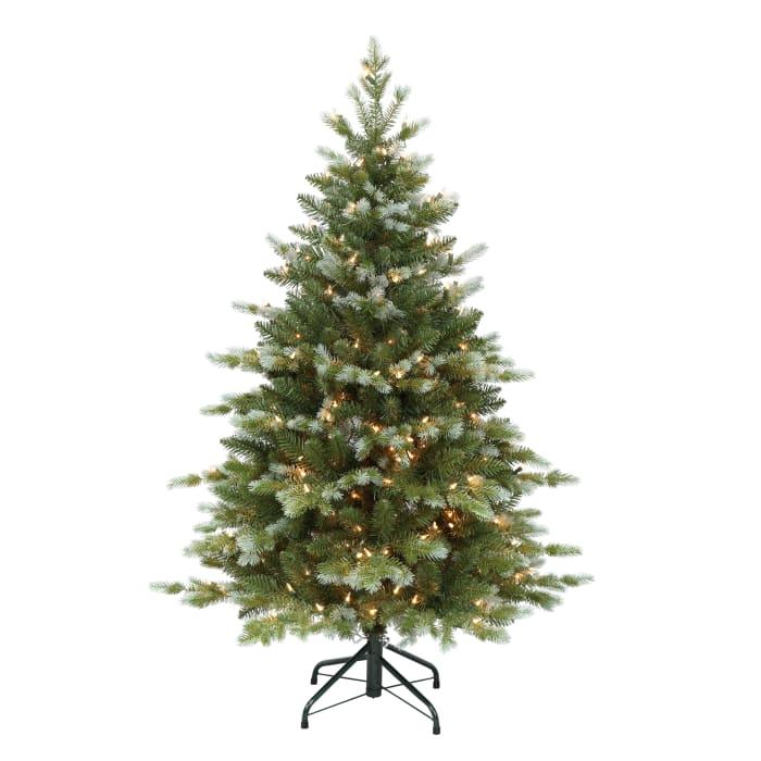 Pre-Lit 4.5' Blue and Green Slim Colorado Blue Spruce Artificial Christmas Tree