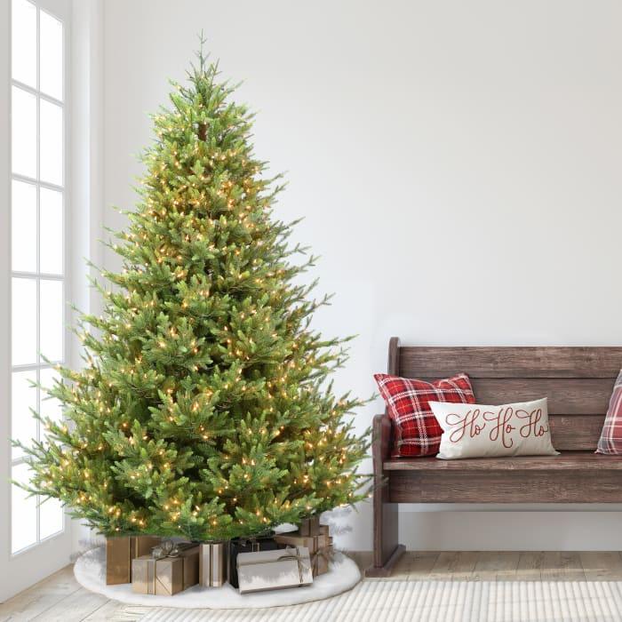 Brigitte 7.5' Pre-Lit 1000 Clear Lights Callington Fir Artificial Christmas Tree