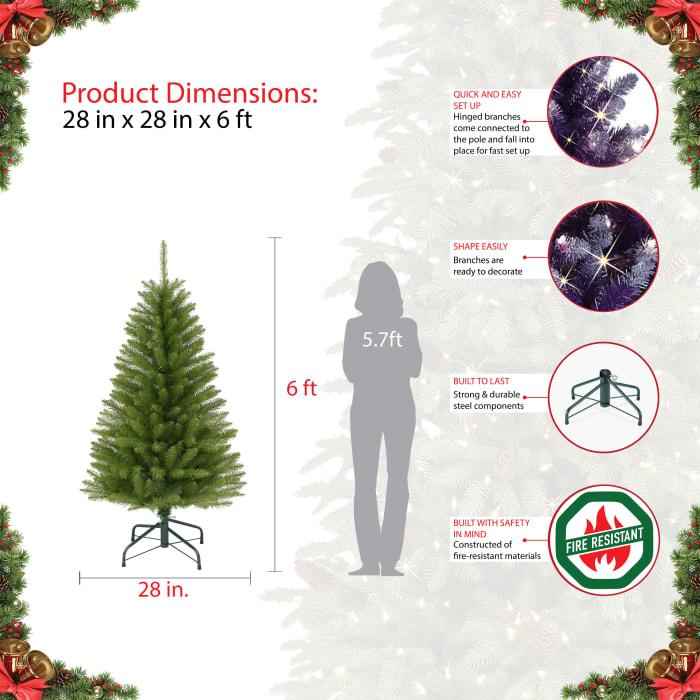 6' Pencil Fraser Fir Artificial Christmas Tree