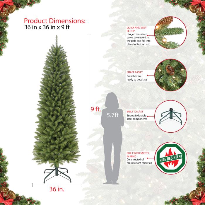 Diana 9' Green Pencil Fraser Fir Artificial Christmas Tree