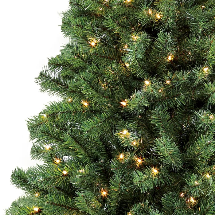 Pre-Lit 4.5' 150 Lights  Green Pencil Northern Fir Artificial Christmas Tree