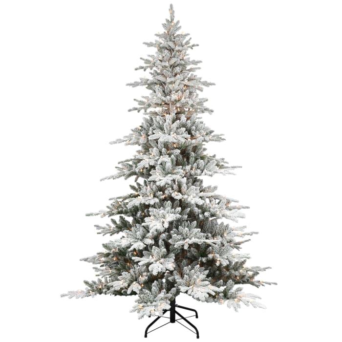 Pre-Lit 7.5' 500 Lights Green Flocked Utah Fir Artificial Christmas Tree