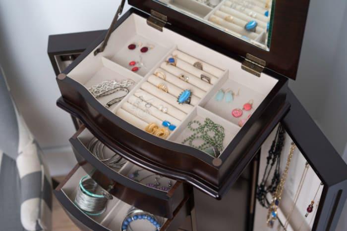 Shiloh Espresso Jewelry Armoire