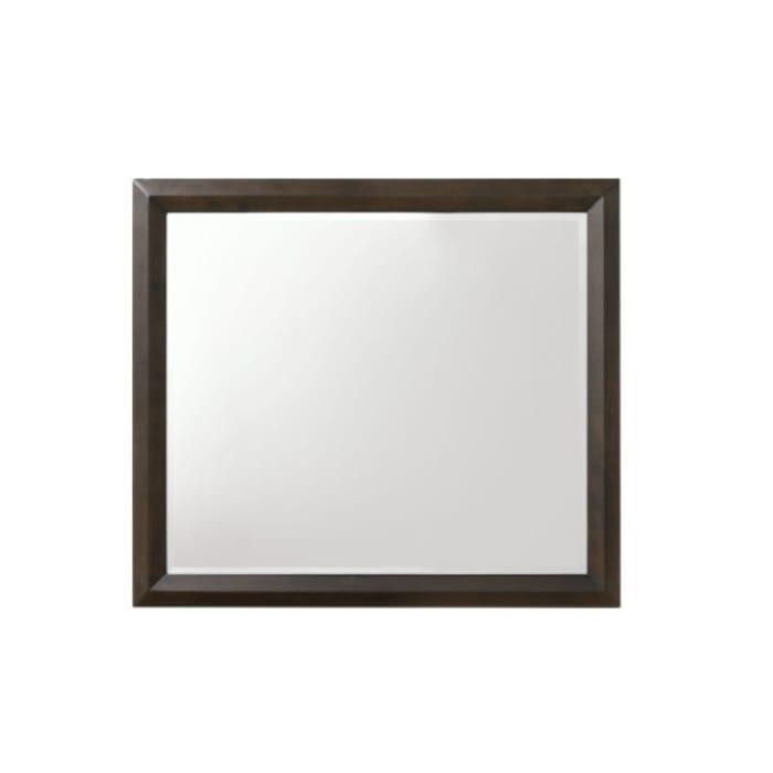 Rich Espresso Finish Beveled Edge Wooden Rectangular Mirror