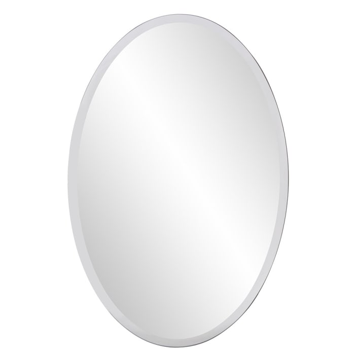 Oval Shaped Frameless Mirror