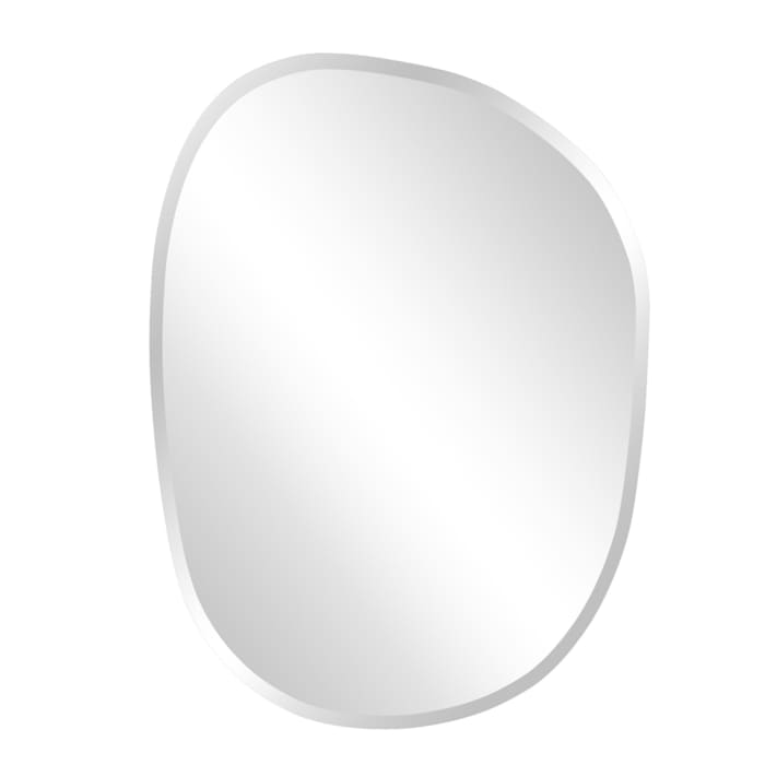 Oval Asymmetrical Frameless Mirror
