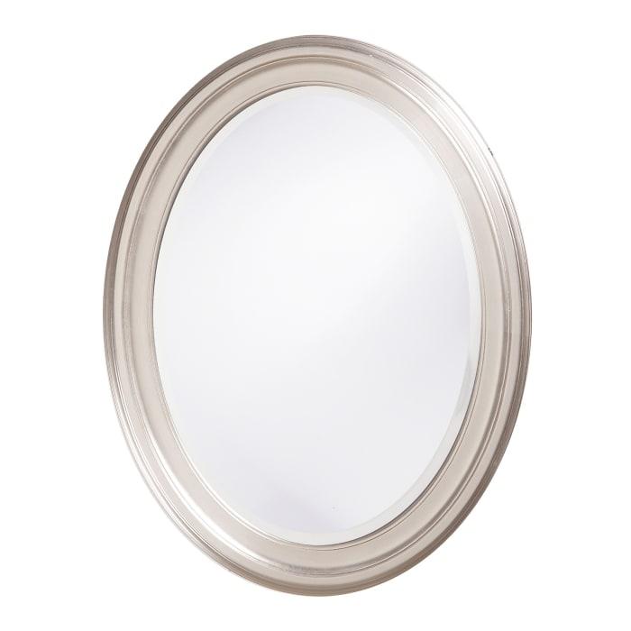 Modern Wall Mirror with Silver Leaf Frame