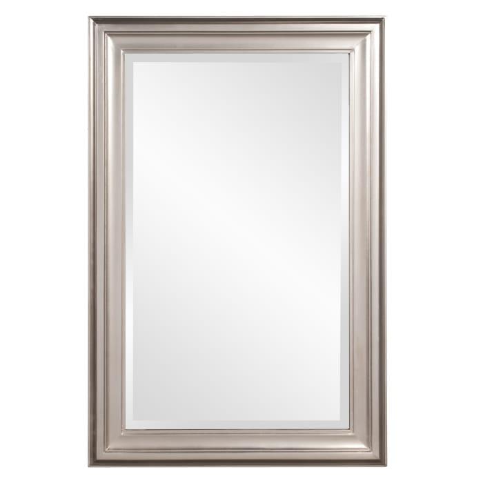 Rectangular Mirror with Leaf Wood Frame