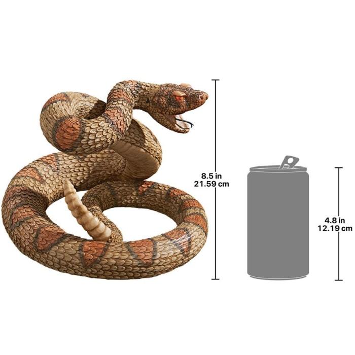 Western Diamond Back Rattlesnake Statue