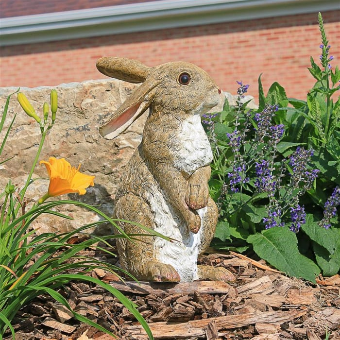 Hopper and Bashful the Bunny Statues