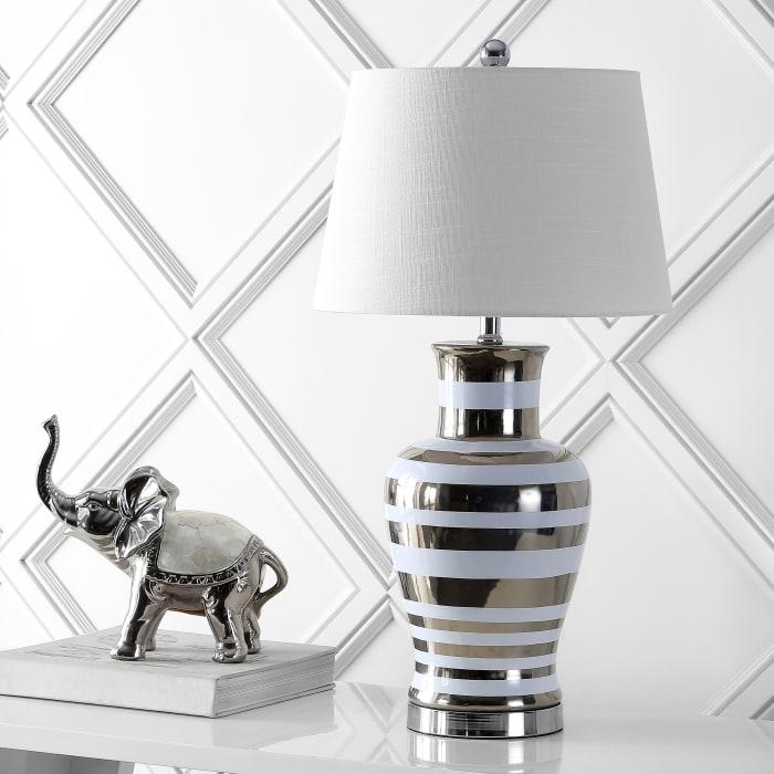 Zilar Classic Modern  Ceramic Iron LED Table Lamp
