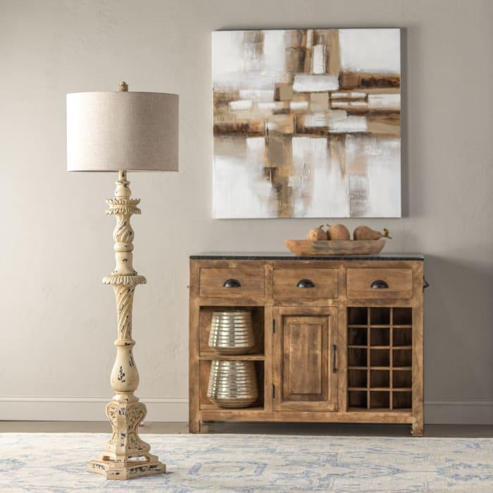 Amelie Distressed Resin Floor Lamp