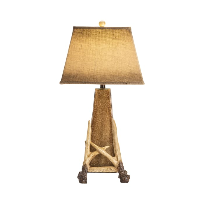 Hunter Antler Cage Glass with Nightlight Table Lamp