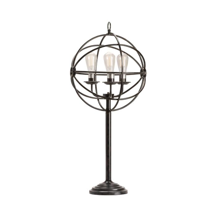 Orla Oil-Rubbed Bronze Industiral Globe Table Lamp