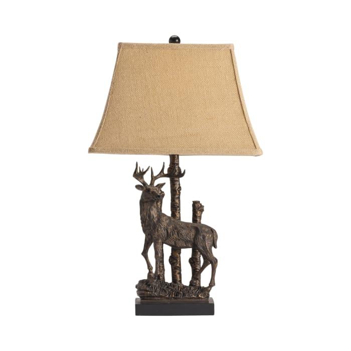 Wilderness Deer Table Lamp